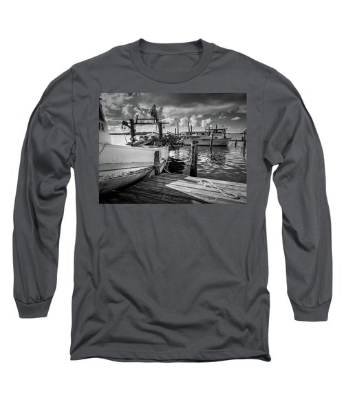 Ready To Go In Bw Long Sleeve T-Shirt