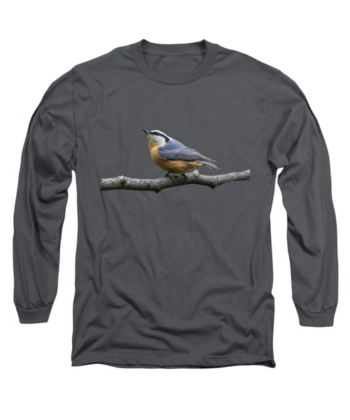 Red-breasted Nuthatch Looking Up Long Sleeve T-Shirt