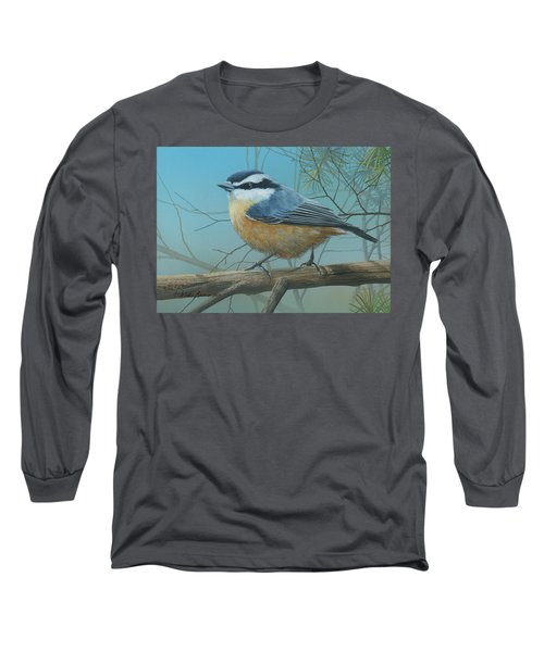 Red Brested Nuthatch Long Sleeve T-Shirt