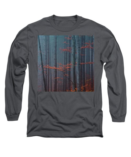 Red Wood Long Sleeve T-Shirt