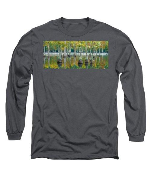 Reflection Of Bald Cypress Taxodium Long Sleeve T-Shirt