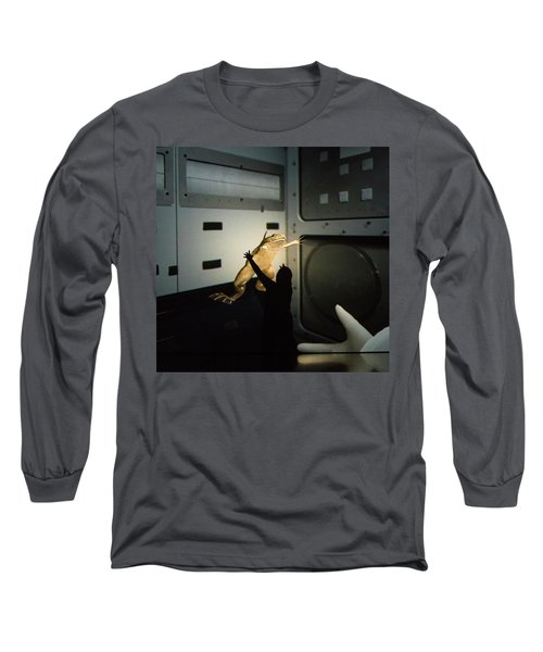 Long Sleeve T-Shirt featuring the photograph Rescue Of The Space Frog by Alex Lapidus