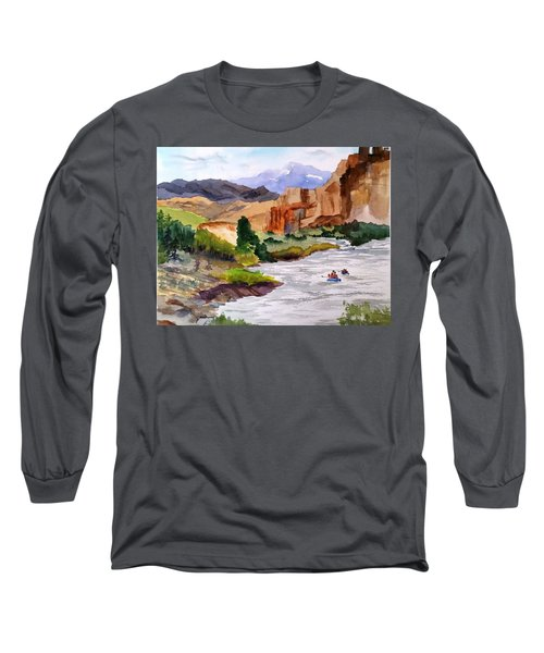 River Rafting In Montana Long Sleeve T-Shirt
