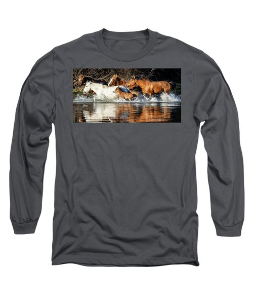 Long Sleeve T-Shirt featuring the photograph River Run by Mary Hone