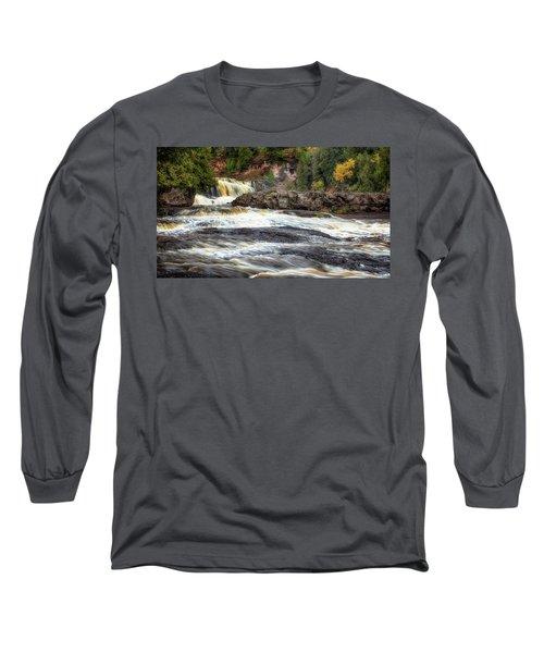 Roaring Gooseberry Falls Long Sleeve T-Shirt