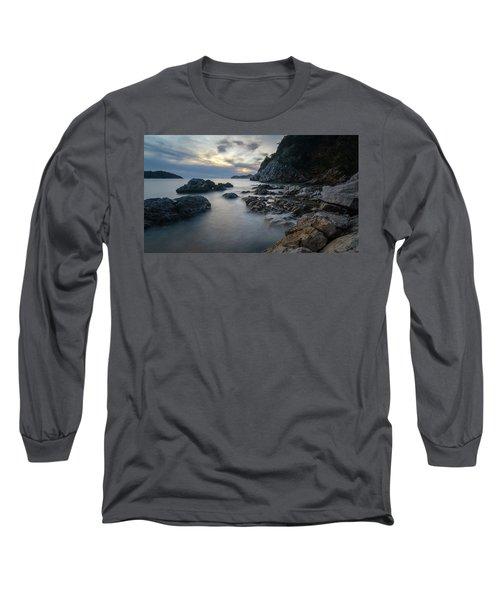 Rocky Coast Near Dubrovnik Long Sleeve T-Shirt