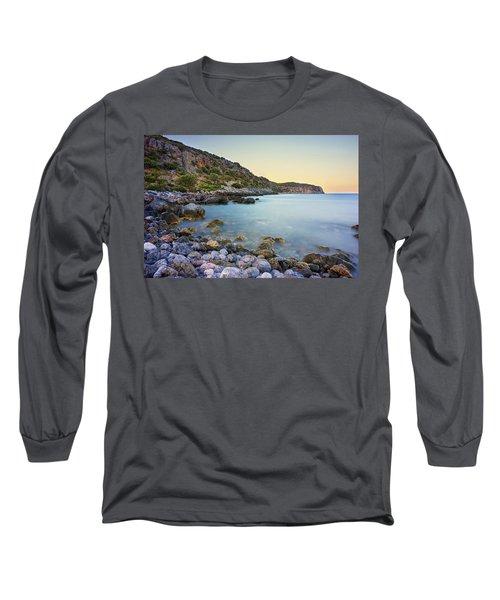 Rocky Coast Near Monemvasia Long Sleeve T-Shirt