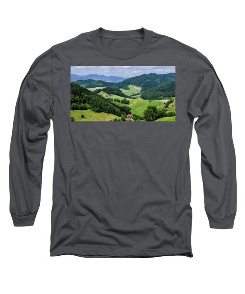 Rolling Hills Of The Black Forest Long Sleeve T-Shirt