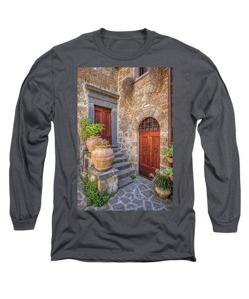 Romantic Courtyard Of Tuscany Long Sleeve T-Shirt