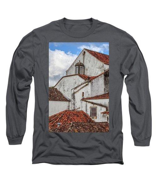 Rooftops Of Obidos Long Sleeve T-Shirt