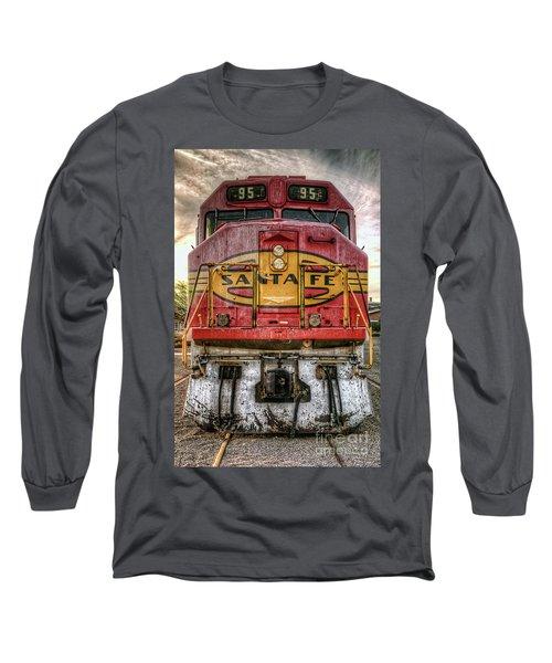 Santa Fe Train Engine Long Sleeve T-Shirt