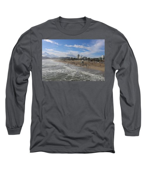 Santa Monica Beach , Santa Monica, California Long Sleeve T-Shirt