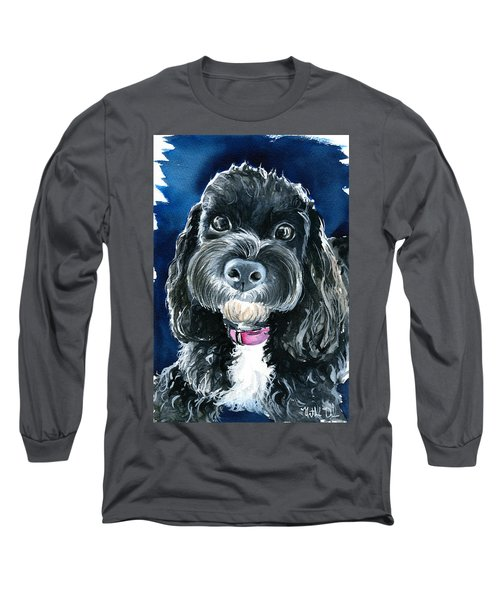 Scout - Cavoodle Dog Painting Long Sleeve T-Shirt
