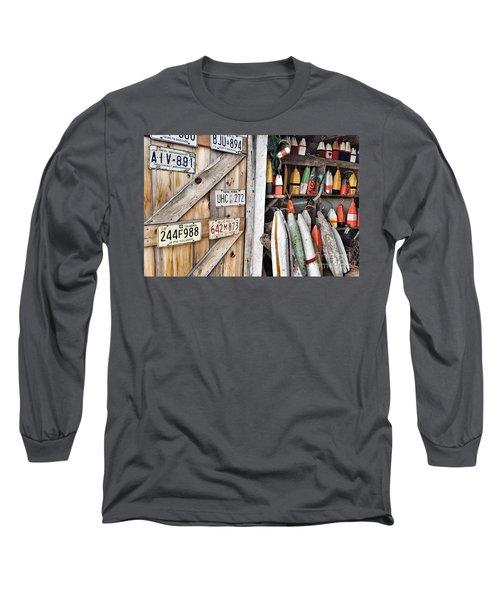 Sea Shack Plates And Buoys Long Sleeve T-Shirt