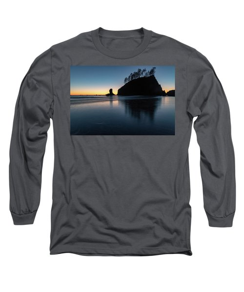 Sea Stack Silhouette Long Sleeve T-Shirt