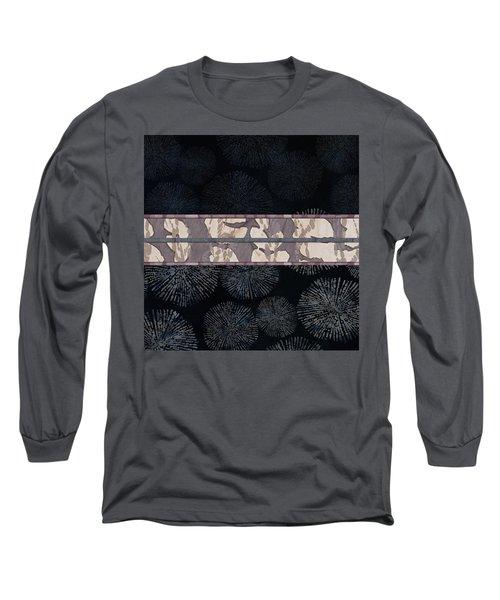Sea Urchin Contrast Obi Print Long Sleeve T-Shirt