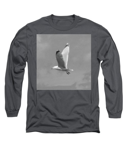 Seagull Over Llandudno Long Sleeve T-Shirt