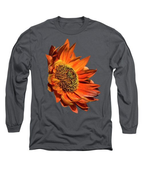 Selective Color Sunflower Long Sleeve T-Shirt