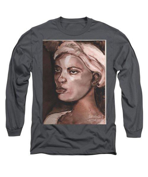 Sepia Woman Long Sleeve T-Shirt