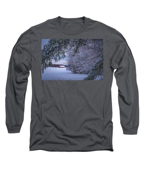 Shed At Sunset Long Sleeve T-Shirt