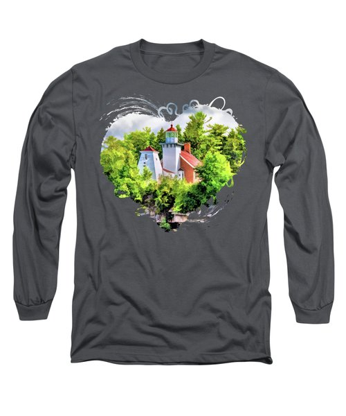 Sherwood Point Lighthouse In Door County Long Sleeve T-Shirt