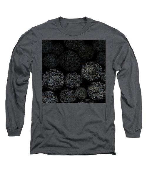 Shibori Sea Urchin Burst Pattern Long Sleeve T-Shirt