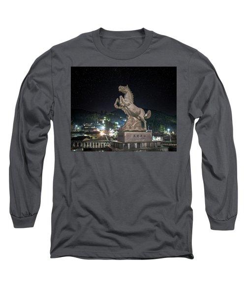 Shima Village Starry Night Long Sleeve T-Shirt
