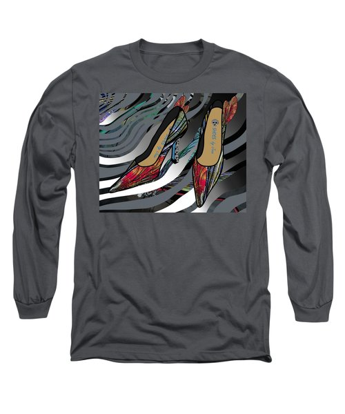 Shoes By Joan - Dragon Fly Wing Pumps Long Sleeve T-Shirt