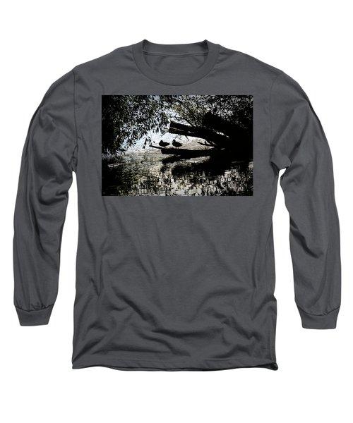 Silhouette Ducks #h9 Long Sleeve T-Shirt