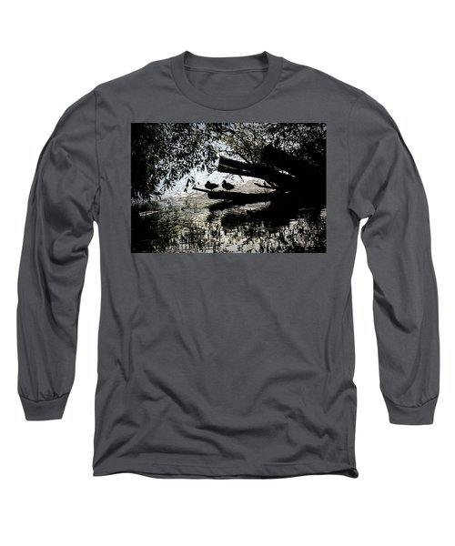 Silhouette Ducks #h9 Long Sleeve T-Shirt