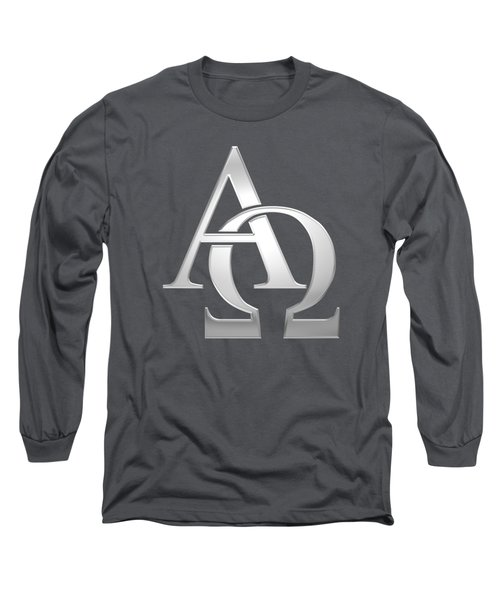 Silver Alpha And Omega Symbol Long Sleeve T-Shirt
