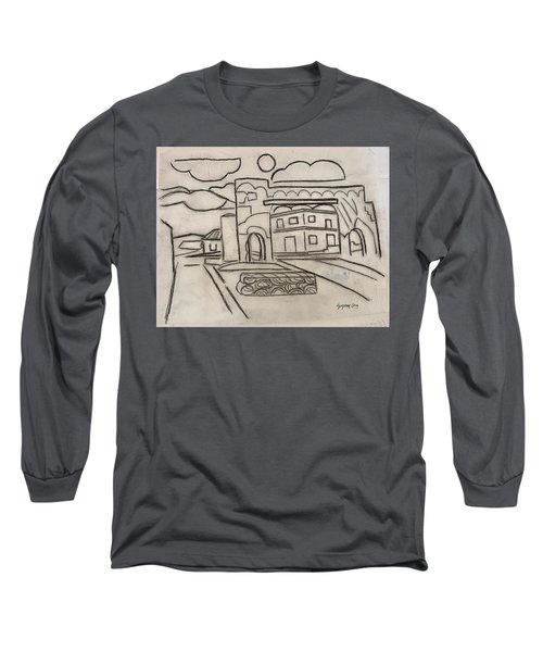Sketch Of Arch Laguna Del Sol Long Sleeve T-Shirt
