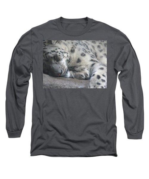 Sleeping Cheetah Long Sleeve T-Shirt