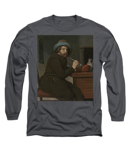 Smoker Seated At A Table Long Sleeve T-Shirt