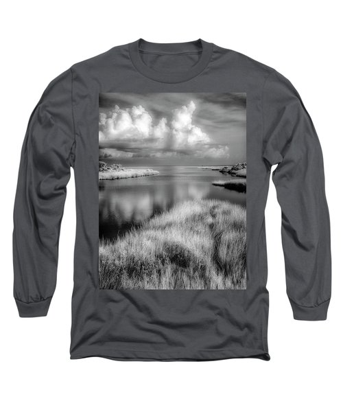 Smooth Waters Bw Long Sleeve T-Shirt