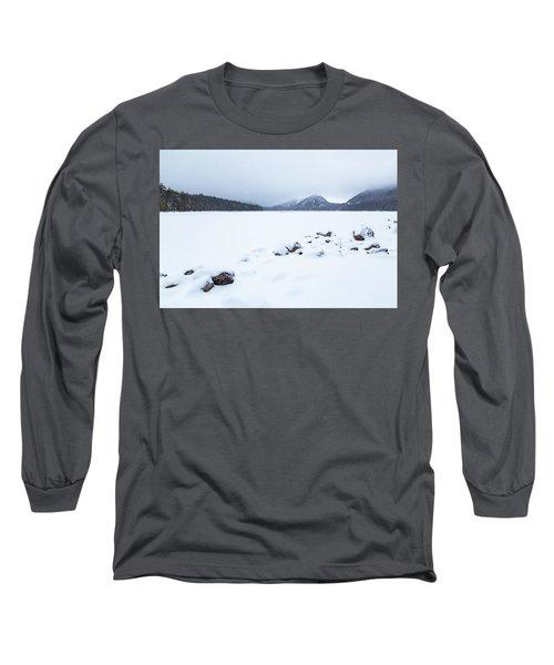 Snow Cover Jordan Pond Long Sleeve T-Shirt