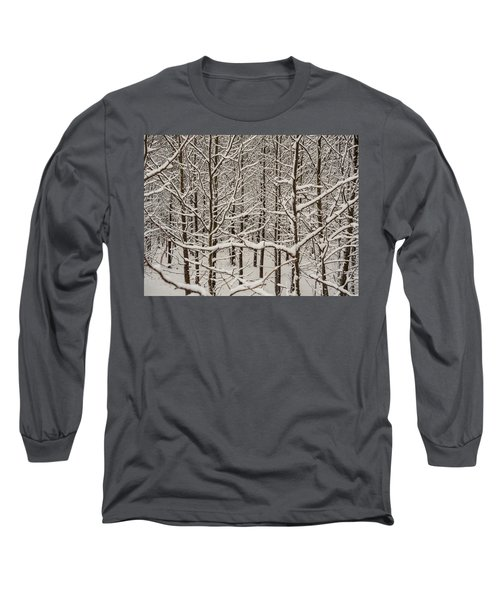 Long Sleeve T-Shirt featuring the photograph Snow Covered Trees by Louis Dallara