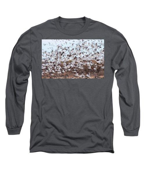 Snow Geese Chaos Long Sleeve T-Shirt