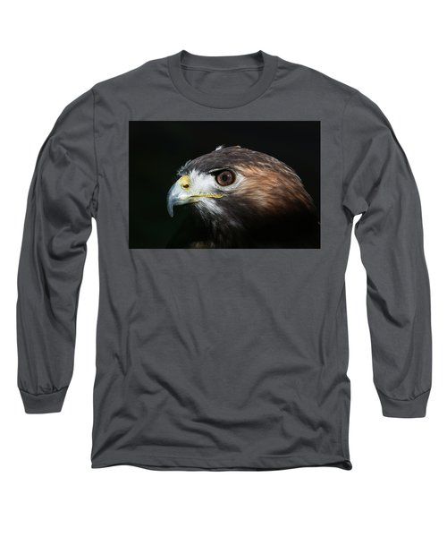 Sparkle In The Eye - Red-tailed Hawk Long Sleeve T-Shirt