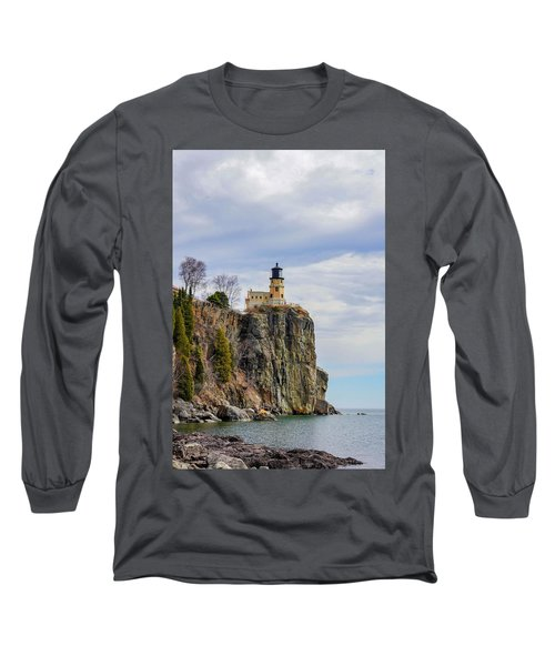 Split Rock Lighthouse Portrait Long Sleeve T-Shirt