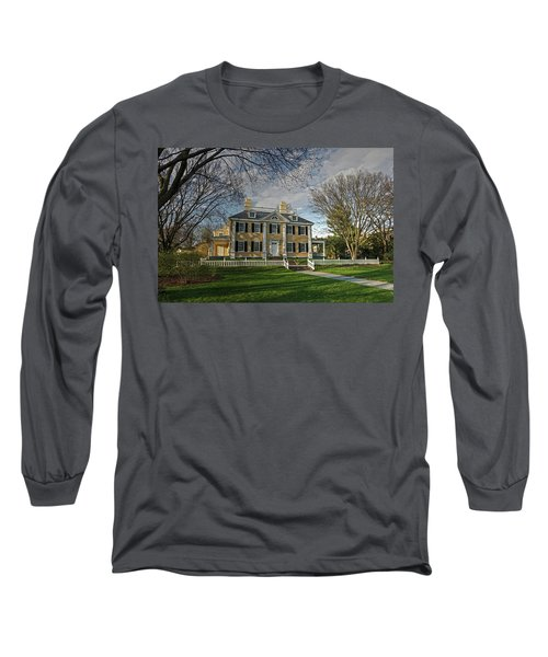 Long Sleeve T-Shirt featuring the photograph Springtime At Longfellow House by Wayne Marshall Chase