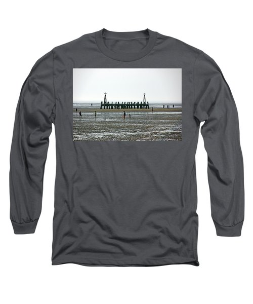 St. Annes. On The Beach. Long Sleeve T-Shirt