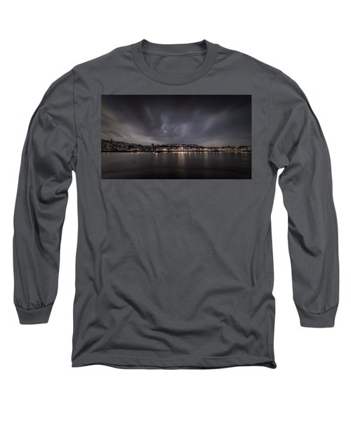 St Ives Cornwall - Dramatic Sky Long Sleeve T-Shirt