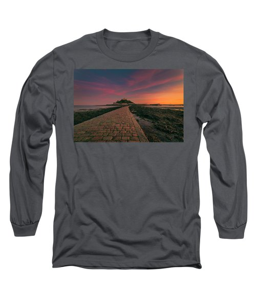 St Michael's Mount Sunset Long Sleeve T-Shirt