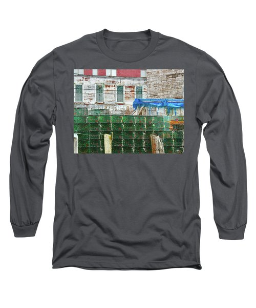 Stacked Lobster Traps Long Sleeve T-Shirt