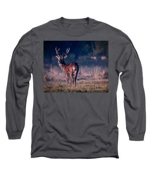 Stag Eating Long Sleeve T-Shirt