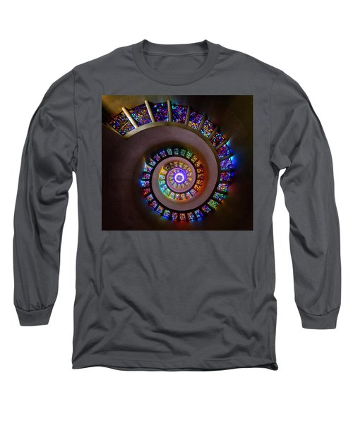 Stained Glass Spiral Long Sleeve T-Shirt