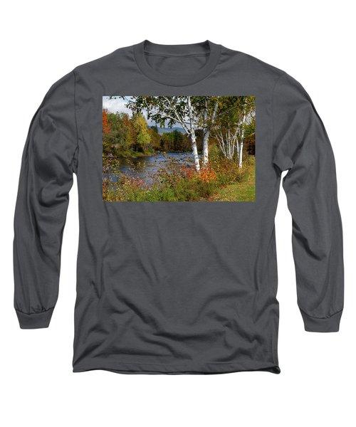 Stark, Nh Fall White Birch  Long Sleeve T-Shirt