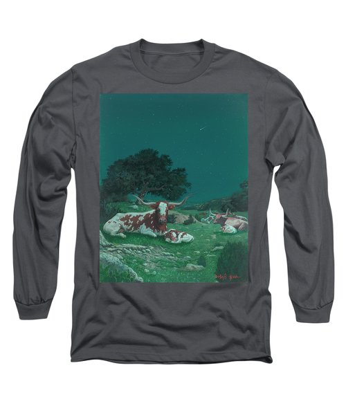 Stars Over Texas Long Sleeve T-Shirt