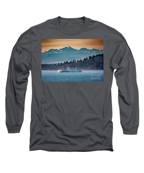 State Ferry And The Olympics Long Sleeve T-Shirt